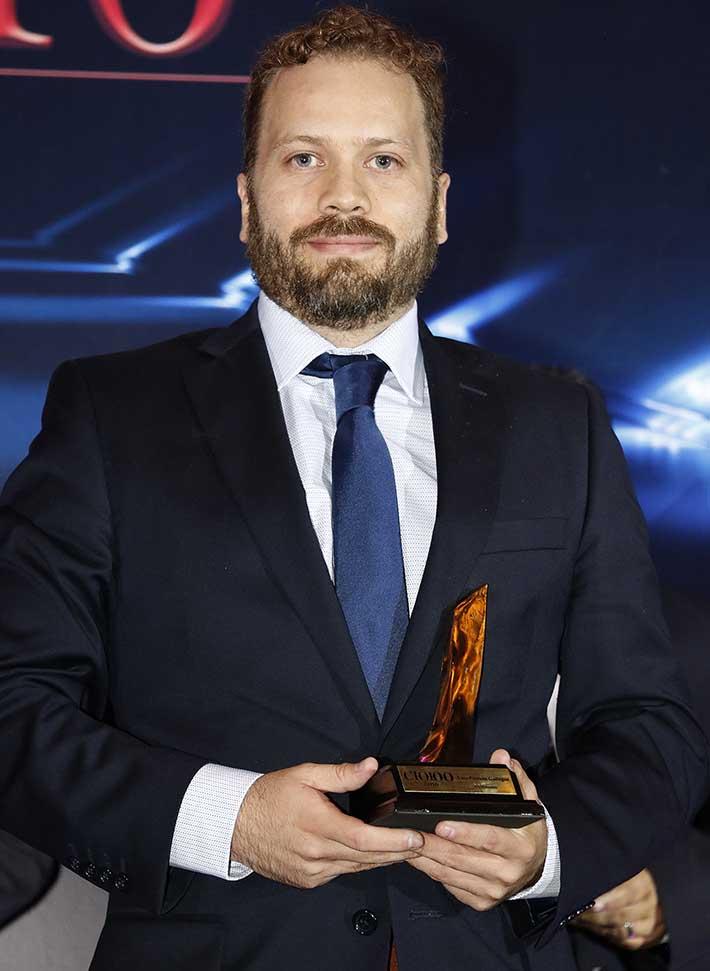 Luis Pintado Gallegos, CIO, MediAccess,en la entrega de los Premios CIO100 2016 - Décima Primera Edición